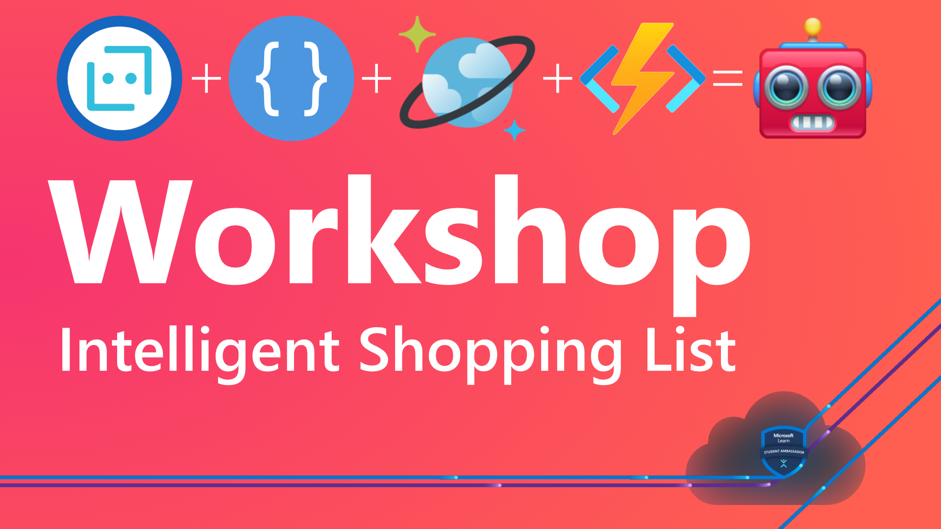 Hero image with 'Workshop Intelligent Shopping List' writing